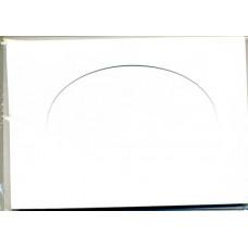 Заготовка для открытки Белая, овал (5542)