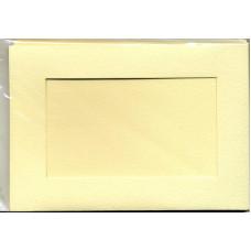 Заготовка для открытки Cлоновая кость, прямоугольник (5374)