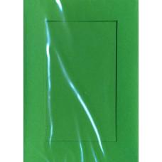Заготовка для открытки Зеленая, прямоугольник (5376)
