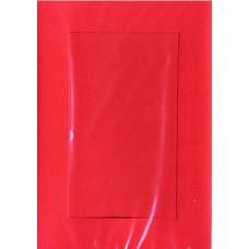 Заготовка для открытки Красная, прямоугольник (5375)