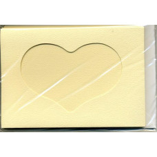 Заготовка для открытки Cлоновая кость, сердце (5593)