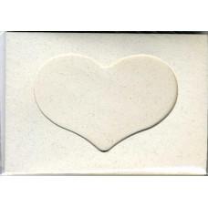 Заготовка для открытки Пергамент, сердце (5132)