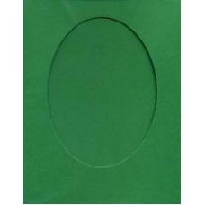 Заготовка для открытки Зеленая, овал (7088)