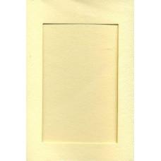 Заготовка для открытки Слоновая кость, прямоугольник (7296)