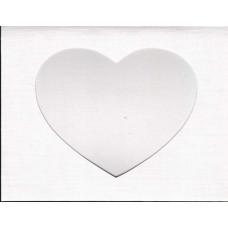 Заготовка для открытки Белый лён, сердце, белый