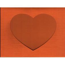 Заготовка для открытки Багряный лён, сердце, багряный