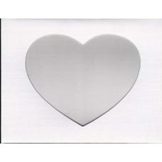 Заготовка для открытки Белая ткань, сердце, белый