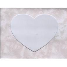 Заготовка для открытки Изморозь, сердце, белый