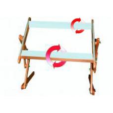 Станок диванный, рама 40х45 см, с корсажной, липкой лентой и вращающимися планками, бук (ДБ40-45)