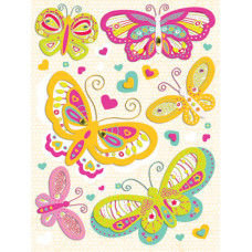 Объёмные наклейки Сердца и бабочки (569126)