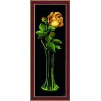 Набор для вышивания крестиком Чарівна мить Жёлтая роза (129)