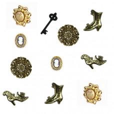 Набор пуговиц Викторианские миниатюры (101)
