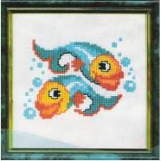 Набор для вышивания крестиком Чарівна мить Рыбки (257)