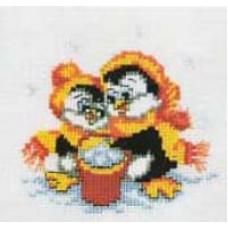 Набор для вышивания крестиком Чарівна мить Пингвинчики (235)