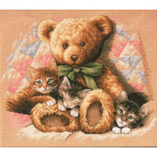 Мишка и котята (35236)