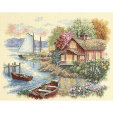 Набор для вышивания крестом Dimensions Домик у озера (35230)