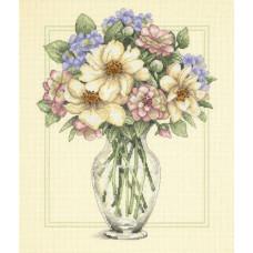 Цветы в высокой вазе (35228)