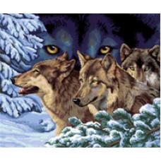 Набор для вышивания крестиком Золотое руно Волчий взгляд (ДЖ-018)