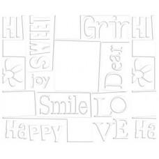 Заготовка для открытки с конвертом, Белое счастье (14 х 10,5) - Embossed cards (CM-025-00013) (33)