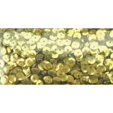 Пайетки Gold Cupped Sequins 5mm 800/Pkg (1004322)