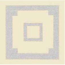 Скатерть для вышивания под лён с квадратами на углах (1,5 х 1,5)