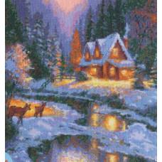 Набор для вышивания крестиком Чудесная игла Зимняя сказка (45-01)