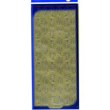 Наклейки блестящие Листики, золото (1141)