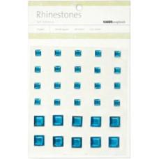 Стразы квадратные Blue, 6-10мм (SB765)