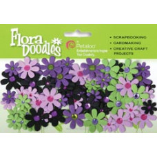 Бумажные цветы Flora Doodles Jeweled Florettes Lavender, Purple, Chatreuse, Green (P1350-220)
