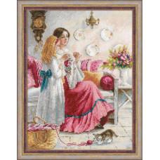Набор для вышивания крестом Риолис Уроки вышивки (1789)