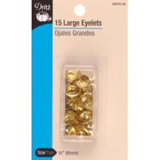 """Люверсы для ткани 1/4"""" Brass (33575-35)"""