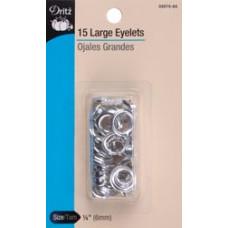 """Люверсы для ткани 1/4"""" Nickel (33575-65)"""