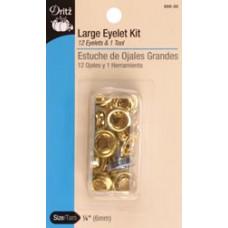 """Набор для установки люверсов для ткани 1/4"""" Brass (659-35)"""