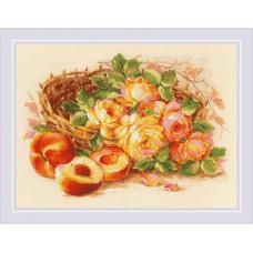 Набор для вышивания крестом Риолис Сочный персик (1827)