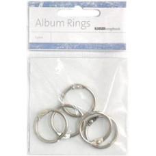 Кольца для альбомов 2,5см, серебрянный (M008)