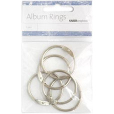 Кольца для альбомов 3,5см, серебрянный (M009)