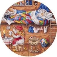 Набор для вышивания крестом Panna Домовой - в семье покой! (СО-1838)