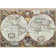 Набор для вышивания крестом Panna Географическая карта мира (ПЗ-1842)