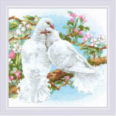 Набор для вышивания крестом Риолис Белые голуби (1856)