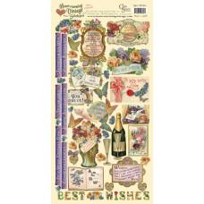 Наклейки Heartwarming Vintage Cardstock Stickers Наилучшие пожелания (CSHVS-904)
