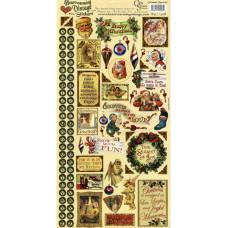 Наклейки Heartwarming Vintage Cardstock Stickers Рождество (CSHVS-905)