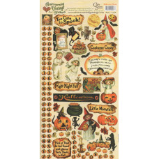 Наклейки Heartwarming Vintage Cardstock Stickers Halloween Treats (CSHVS-907)