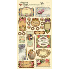 Наклейки Heartwarming Vintage Cardstock Stickers French Labels (CSHVS-912)