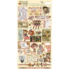 Наклейки Heartwarming Vintage Cardstock Stickers Для девочек (CSHVS-915)
