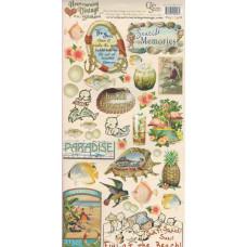 Наклейки Heartwarming Vintage Cardstock Stickers На море (CSHVS-916)