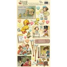 Наклейки Heartwarming Vintage Cardstock Stickers Выздоравливай! (CSHVS-921)