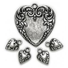 Подвески Victorian Heart Ox Silver (12406)