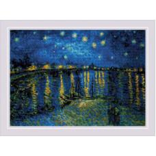 Набор для вышивания крестом Риолис Звездная ночь над Роной (1884)