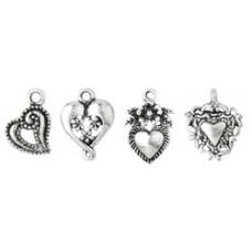 Подвески Silver Medium Heart Assortment (65606)