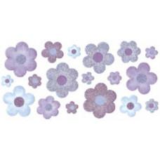Наклейки из веллума с глиттером Цветы (SPZG-06)